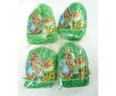 4 Beutel Ostergras a 40 Gramm = 160 Gramm saftig grünes Ostergras von Brauns Heitmann, Ostern, Osterdeko, Osternester, Osterkörbe
