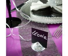 4 x Tischkartenhalter Platzkarten Diamant Namensschild Hochzeit Kommunion Tischdeko