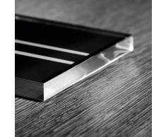 Sigel PA304 Wand-/Tür-Piktogramm pictoacrylic, Behinderten WC, schwarz / Druck: silber, Acryl, 85x85x8 mm, 1 Stück