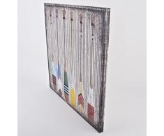 Wandbild Paddel Maritim Design Kunstdruck 70x70cm Yachting (Motiv 2)