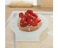 Leonardo Glas-Schale Malaga, flache Schale aus Glas im modernen Stil, handgefertigte Deko-Schale mit Milch-Glas, 52,5-cm, 045925