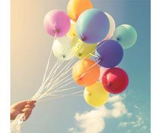 TK Gruppe Timo Klingler 100x Premium Ballons Ø 35 cm Luftballons, für Helium & Luft - als Deko für Hochzeit & Geburtstag & Party (100x bunt)