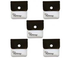 My Ashtray 5 Taschen-Aschenbecher, Schwarz/Weiß