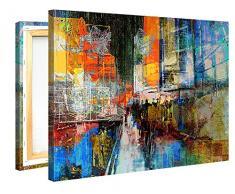Premium Kunstdruck Wand-Bild – 7th Avenue – 100x75cm Leinwand-Druck in deutscher Marken-Qualität – Leinwand-Bilder auf Holz-Keilrahmen als moderne Wanddekoration