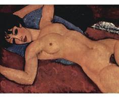 1art1 58417 Amedeo Modigliani - Liegender Akt, 1917 Poster Kunstdruck 80 x 60 cm