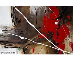 KunstLoft® Acryl Gemälde Voller Stärke und Anmut 90x60cm   original handgemalte Leinwand Bilder XXL   Wilder Stier Bulle Börse Stierkampf Braun   Wandbild Acrylbild moderne Kunst mit Rahmen