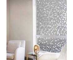Aingoo 3D Mosaik Glasdekorfolie Fensterfolie Sichtschutzfolie Statisch Folie brechende bunte 90x200cm 021