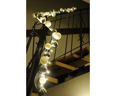 Arnusa LED Girlande 200cm mit 80 LEDS und 40 Kunststoffkugeln Kugelgirlande Weihnachtsgirlande Lichterkette