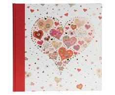 Goldbuch Hochzeitsalbum, Big Heart Rose, 30 x 31 cm, 60 weiße Seiten mit Pergamin-Trennblättern, Leinen mit Kunstrduckpapier mit Goldprägung und Relief, Perlmutt, 08411