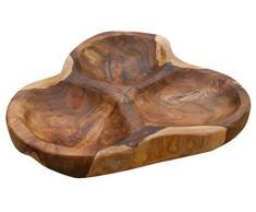 LioLiving®, Holzschale Peanut aus massivem Teakholz (#400154)