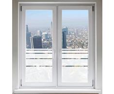 INDIGOS UG Sichtschutzfolie Fensterfolie Glasdekorfolie Dynamische Streifen satiniert blickdicht ORACAL® - 1200mm Breite x 500mm Höhe - auch mit Individueller Breite