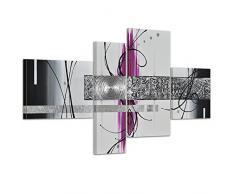 Bilderdepot24.de 45041a Abstrakte Kunst handgemaltes Leinwandbild, 120 x 70 cm, 4-teilig 3027