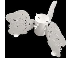 Intelmann Christbaumständer, Weihnachtsbaumständer, Ø 50 cm, Weihnachtsmann Motiv, Weiß, Metall