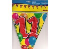 1 WIMPELKETTE 11.Geburtstag GIRLANDE 10m PARTY DEKO