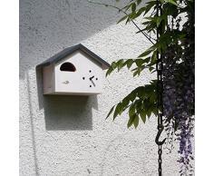 Moderne Kuckucksuhr, Nistkastenuhr b120-ws für den Hausrotschwanz, nicht den Kuckuck