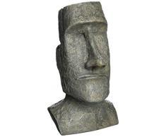 Design Toscano Osterinsel-Monolith Ahu Akivi Moai: Schreibtisch