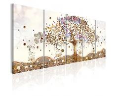 murando - Bilder Baum Klimt 200x80 cm Vlies Leinwandbild 5 TLG Kunstdruck modern Wandbilder XXL Wanddekoration Design Wand Bild - Abstrakt l-A-0009-b-n