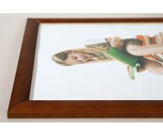 Promo Ideal Holz Bilderrahmen in viele Größen viele Farben Foto Rahmen: Farbe: Braun | Format: 10x15