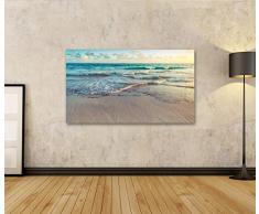 islandburner Bild Bilder auf Leinwand XXL Bild ! Direkt vom Hersteller ! Poster Leinwandbild Wandbilder Kunstdruck verschiedene Formate ! AZH Strand Meer Sand
