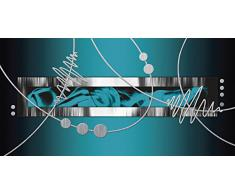 Abstrakte wandbild g nstige abstrakte wandbilder bei livingo kaufen - Wandbild petrol ...