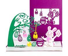 3D Pop Up KarteFrohe Ostern Osterkarte mit Umschlag, 3D Klappkarte zu Ostern, einzigartige Ostergrußkarte als Karte, Geschenk & Gutschein