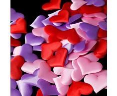 Amosfun 200 Herzen Blütenblätter Herz Konfetti für Hochzeit Party Dekoration