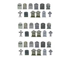 36 Stand Up Halloween Gravestones Premium Edible Wafer Paper Cake Toppers Decorations by Top That