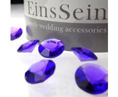 100x FUNKELNDE Diamantkristalle 12mm lila EinsSein® Dekoration Dekosteine Diamanten FUNKELNDE Diamantkristalle Streudeko Konfetti Tischdeko Hochzeit