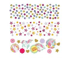 NET TOYS Märchenhaftes Einhorn Party-Konfetti - 34g - Bezaubernde Party-Tisch-Deko Unicorn Streuartikel - Ideal für Kindergeburtstag & Kinderfest