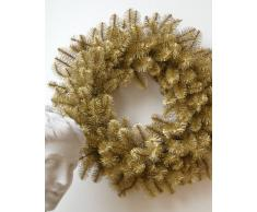Großer Tannenkranz, gold, Ø 80cm - Adventskranz - Weihnachtskranz - Wandkranz