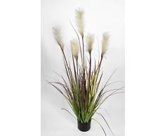 Seidenblumen Roß Pampasgras/Grasbusch 120cm LA Dekogras künstliches Gras Kunstpflanzen Kunstgras künstliche Pflanzen Solitärgras Ziergras