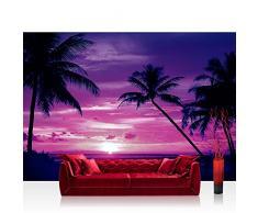 1950 Fototapete Meer Strand Sonnenuntergang Palme Wolken Romantik liwwing no