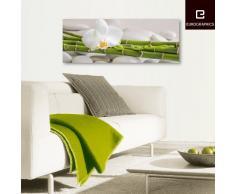Eurographics DG-UWE1050 Deco Glass, Glasbild, White Bambo, 30 x 80 cm