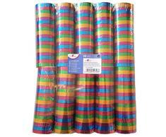 Susy Card 40016269 Luftschlangenmetallic, Papier, einseitig mit Folie überzogen, Länge: 4 m, verschiedene Farben, 10 Rollen eingeschweißt