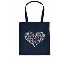 Goodman Design ® Stoffbeutel statt Nikolaussack - Herz Liebe - Lustige besondere Tasche als kreativer Ersatz für Nikolausstrumpf