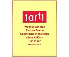 Franz Marc Poster Kunstdruck und Kunststoff-Rahmen - Akt Mit Katze (50 x 40cm)