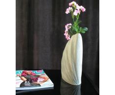 Blumenvase Keramikvase Tischvase Sidney L - 30cm (weiß)