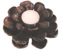 Esschert Design Gartenlicht, Teelichthalter Motiv Tannenzapfen, ca. 12 cm x 14 cm x 6,8 cm