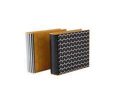 Goldbuch Einsteckalbum, Off-line, 22,5 x 22,5 cm, Für 200 Fotos im Format 10 x 15 cm, Kunstdruck, Schwarz/Weiß/Gelb, 17720