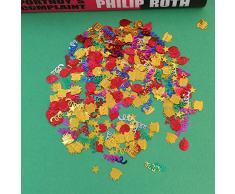 Amosfun Party-Konfetti Kuchen Luftschlangen Stern Ballon Tisch Pailletten Konfetti Streu für Geburtstag Hochzeit Party Dekoration