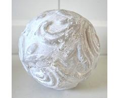 Dekokugel Lafiora Keramik Ø 23 cm rot-weiß