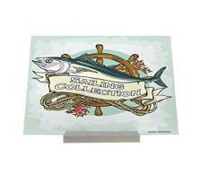 Aufstellbild Kunstdruck Bild Küsten Maritim Fisch Anker Plakat Tafel