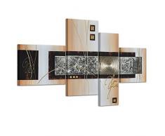 Bilderdepot24.de 45042a Abstrakte Kunst handgemaltes Leinwandbild, 120 x 70 cm, 4-teilig 3028