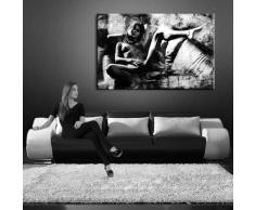 Bild auf LEINWAND AKT EROTIK GIRL abstrakt verschiedene Größen wählbar!!! gerahmt fertig auf HOLZRAHMEN Kunstdruck Wandbild auf Rahmen günstiger als Ölbild Gemälde/Poster/Plakat/kein Poster oder Plakat ( (60x40cm)