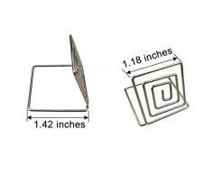 Justdolife 24PCS Platzkartenhalter Ring Quadratische Form Tischkartenhalter