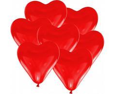 doriantrade 100 Herz Luftballons Ø 30 cm Farbe frei wählbar Herzballons Helium Luftballon (Rot)