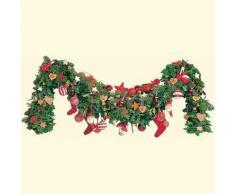 Weihnachtsgirlande in Rot