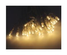 10er LED Batterlichterkette warmweiß Innen Lichterkette Beleuchtung Deko Zeitschaltuhr Timerfunktion Batteriebetrieb