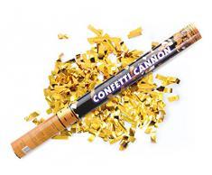 Kleenes Traumhandel 4 x Goldener Konfetti Regen 60 cm Kanone Shooter Konfettibombe Partypopper Hochzeit