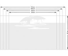 Graz Design 980159_80x57 Sichtschutzfolie Fenstertattoo Fensteraufkleber Deko für Badezimmer Wal Walflosse Wasser (Größe=80x57cm)